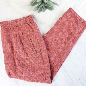 Anthropologie Rust Red Marled Harem Jogger Pants